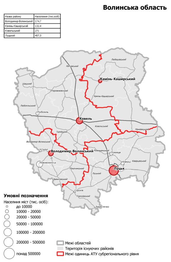 Нові райони Волинської області